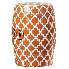image-Holgate Ceramic Garden Stool Mercury Row Colour: Orange