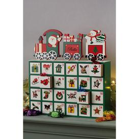 image-Personalised Wooden Train Advent Calendar