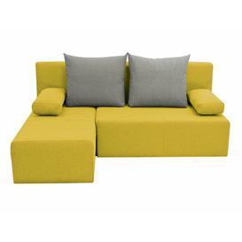image-Pagoda Corner Sofa Bed Latitude Run Upholstery: Yellow/Grey