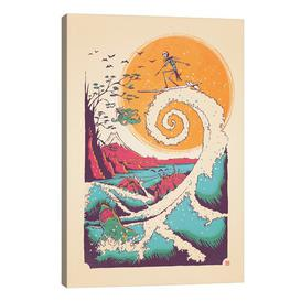 image-'Surf Before Christmas' Graphic Art Print on Wrapped Canvas East Urban Home Size: 66 cm H x45.7 cm Wx 1.9 cm D