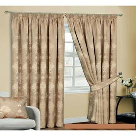 image-Virgina Pencil Pleat Room Darkening Thermal Curtains Textile Home Panel Size: Width 228 x Drop 183cm, Colour: Gold