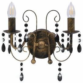 image-Adairsville 2-Light LED Wall Lamp Lily Manor Fixture Finish: Black