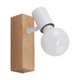 image-Eglo 33168 Townshend 3 One Light Wall Spotlight In Brown And White