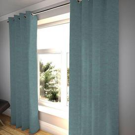 """image-Plain Chenille Wedgewood Blue Curtains, 116cm(w) x 412cm(d) (46"""" x 162"""")"""