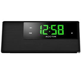 image-Adaven Digital Alarm Tabletop Clock in Black Acctim
