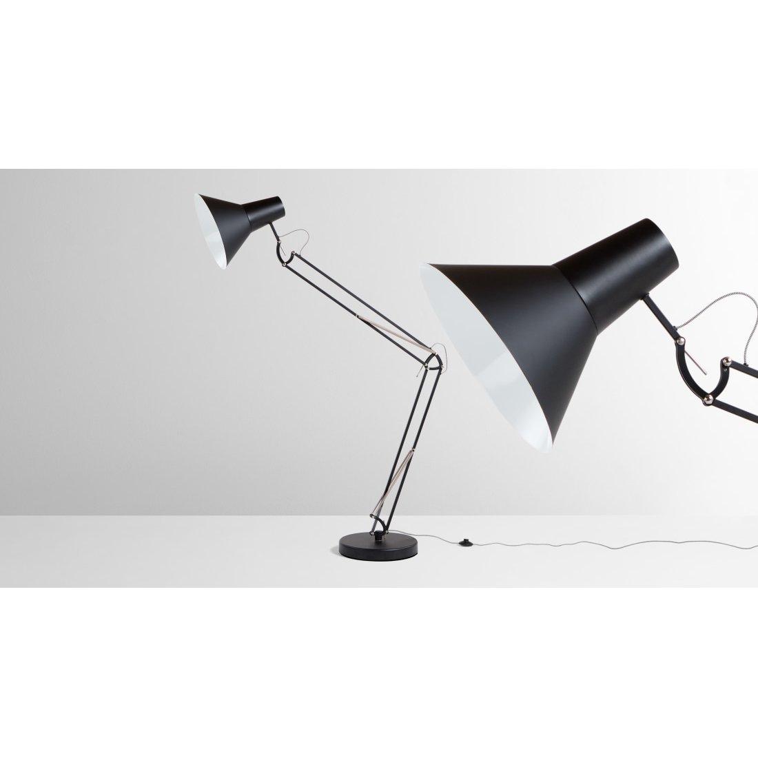 image-Bronx Giant Floor Lamp, Matt Black