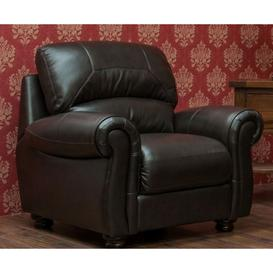 image-Cambridge Leather Armchair Sofa Available In Chestnut Or Dark Brown