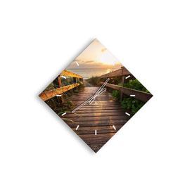 image-Mina Silent Wall Clock Beachcrest Home Size: 85cm H x 85cm W x 0.4cm D