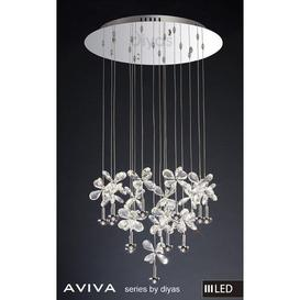 image-IL31146 Aviva LED 16 Light Chrome & Crystal Ceiling Pendant