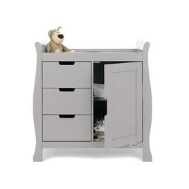 image-Stamford Closed Changing Table Obaby Colour: Warm Grey