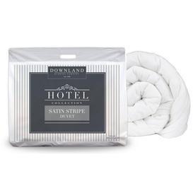 image-Downland Hotel Collection Stripe 10.5 Tog Duvet