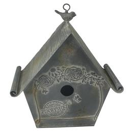 image-Kingon Hanging Bird House with Embossed Flower Lily Manor