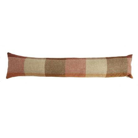 image-Heritage Check Terracotta Draught Excluder Terracotta