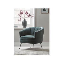 image-Riba Occasional Chair - Dusky Blue Velvet