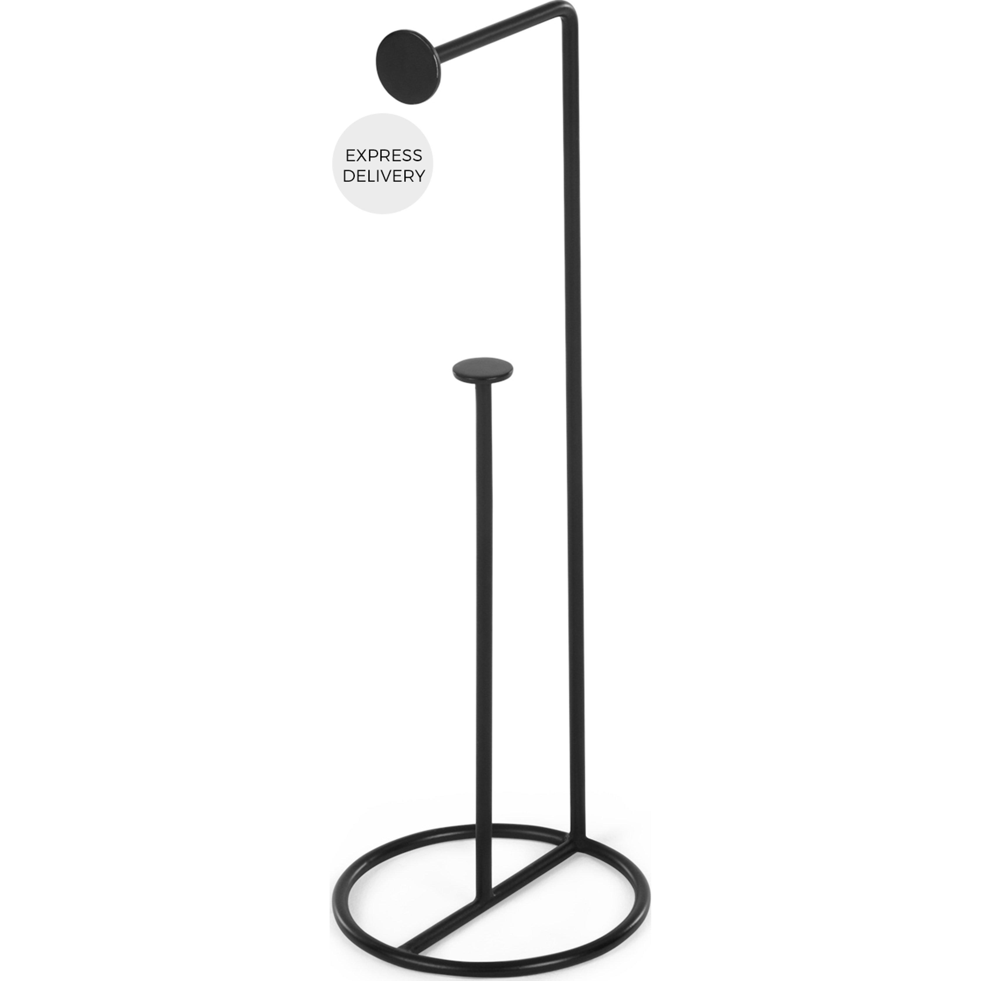 image-Bran Freestanding Toilet Roll Holder, Black