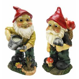 image-Gulliver and Mushroonie Garden Gnome Statues Design Toscano