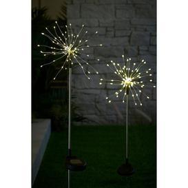image-Pair of Solar Starburst Stake Lights