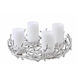 image-Porus 42cm Wreath Edzard Colour: Silver