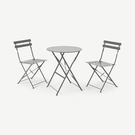 image-2 Seat Garden Folding Bistro Set, Grey