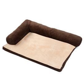 image-Canndale Cushion Dog Bed Archie & Oscar Size: Small (70cm W x 90cm D x 20cm H), Colour: Brown