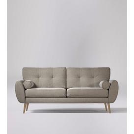 image-Swoon Egle Three-Seater Sofa in Llama Smart Wool With Light Feet
