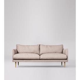 image-Swoon Luna Three-Seater Sofa in Blush House Weave With Light Feet
