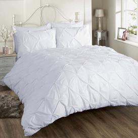 image-Cilla 180 TC Percale Duvet Cover Set Ebern Designs Colour: White, Size: Kingsize