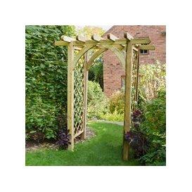 image-Forest Garden Ultima Pergola Arch - Large