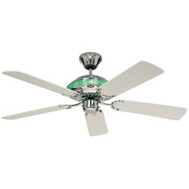 image-132cm Merkur 5-Blade Ceiling Fan Symple Stuff Finish: Glossy Chrome / White Lacquered