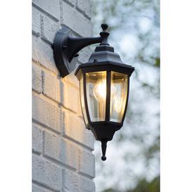 image-Tireno 1-Light Outdoor Wall Lantern Lucide Frame Finish: Black
