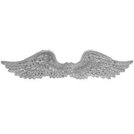 image-Silver Art Angel Wings Ornament