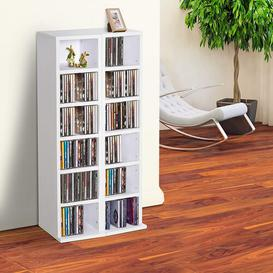 image-Multimedia Open DVD/CD Shelf Ebern Designs Colour: White