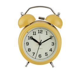 image-Argos Home Bell Alarm Clock - Mustard