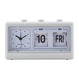 image-Monograph - Alarm Clock with Calendar - Retro Grey