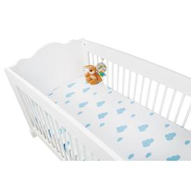image-Jersey Fitted Cot Sheet Pinolino Colour: Blue