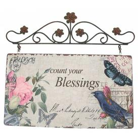 image-Vintage Primavera Blessings Metal Wall Décor East Urban Home