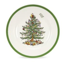 image-Christmas Tree Flexo Dinner Plate Spode Size: 3cm H x 20cm W x 20cm D