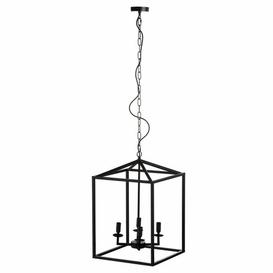 image-Northwich 4-Light Lantern Rectangle LED Pendant August Grove