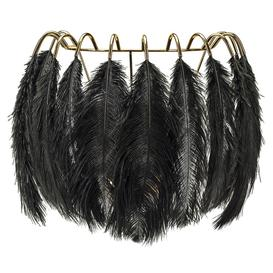image-Feather Wall Lamp - Black