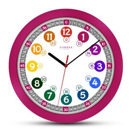 image-Children 30.5cm Silent Wall Clock Cander Berlin Colour: Burgundy