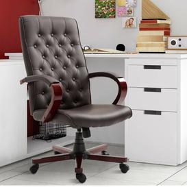 image-Bouldin Leather Executive Chair Mercury Row Colour (Upholstery): Brown