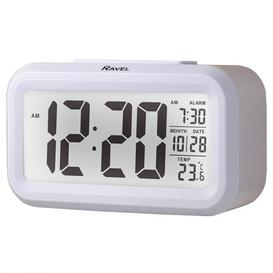 image-Langley Digital Electric Alarm Tabletop Clock Ravel Finish: White