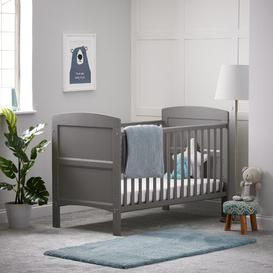 image-Grace Cot Bed with Fibre Mattress Obaby Colour: Taupe Grey