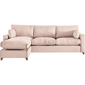 image-Yepez Ottoman Corner Sofa Mercury Row Upholstery Colour: Rose, Orientation: Left Hand Facing