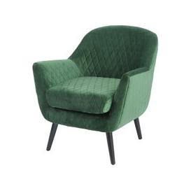 image-Libra Nov Promo - Ellison Green Velvet Quilted Occasional Chair