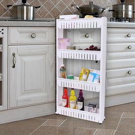 image-Frasher 54.5Cm W x 102Cm H x 12Cm D Free-Standing Bathroom Shelves