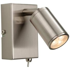 image-Firstlight 3453BS Orion LED One Light Wall Reading Light In Brushed Steel