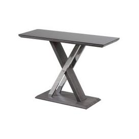 image-Xavi Grey Walnut Console Table with Glass Top