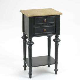 image-Telephone Table Fleur De Lis Living Colour: Veneer Oak / Black