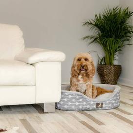 image-Tammy Bolster Cushion Archie & Oscar Colour: Grey, Size: 20.5cm H x 80cm W x 62cm D